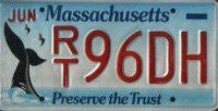 Massachusetts Whale License Plate