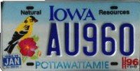 Iowa Natural Resources License Plate