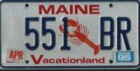 Maine Lobster License Plate