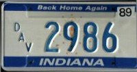 Indiana Back Home Again Disabled American Veterans License Plate blue numbers on white.jpg