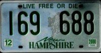 New Hampshire Man in Mountain License Plate