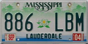 Mississippi Green Forest with Flower License Plate