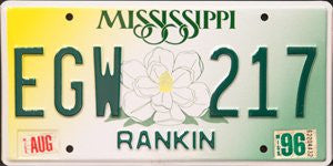 Mississippi Flower License Plate