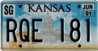 Kansas Captial Building License Plate
