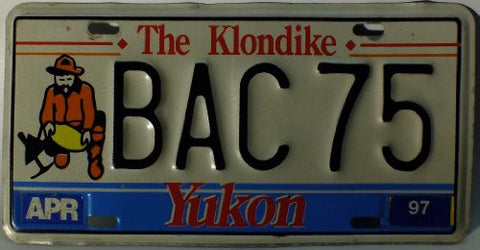 "Yukon Canada License Plate The Klondike"" """