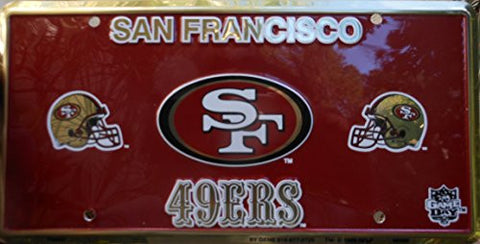 San Francisco 49ers Football License Plate Official Licensed Nfl Product
