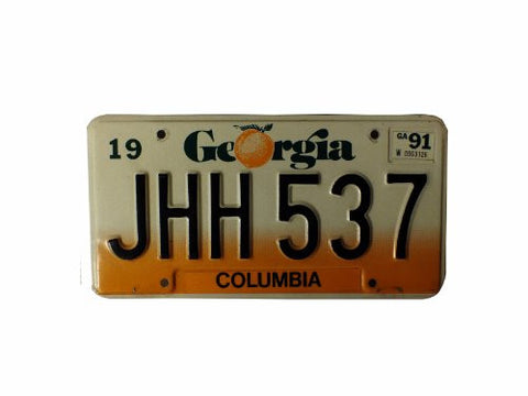 Geroriga black numbers with orange fade with peach License Plate