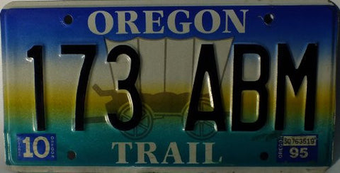 "Oregon Trail"" with Wagon License Plate"""