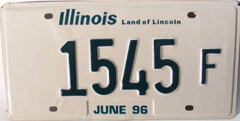 Illinois Land of Lincoln License Plate green numbers on white.jpg