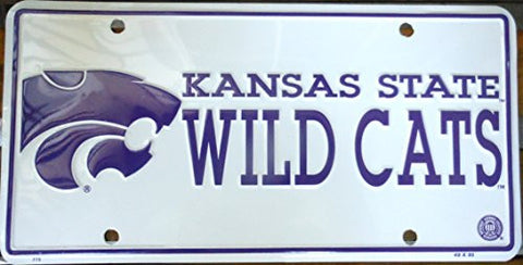 Kansas State Wild Cats Football License Plate Officially Licensed Product