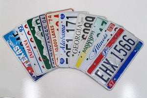 Bundle of 10 Misc License Plates (One From Each State) Our Choice All in Good Condition