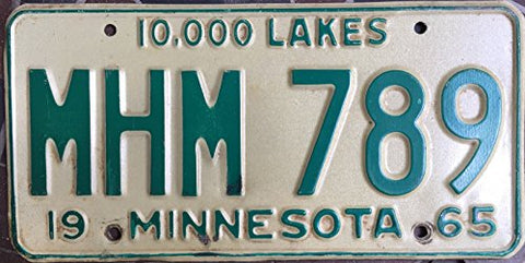 Minnesota State License Plate 65 Green