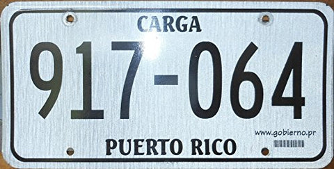 Puerto Rico License Plate Black Letters on Gray