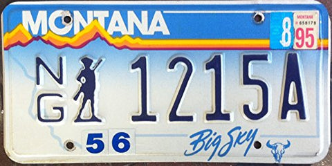"Montana State License Plate ""National Guard"""