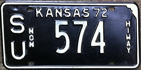 "Kansas State License Plate "" NON HIWAY"""