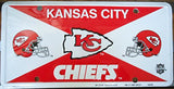 Kansas City Chiefs Football License Plate Officially Licensed Product