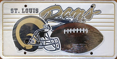 St. Louis Rams Football License Plate