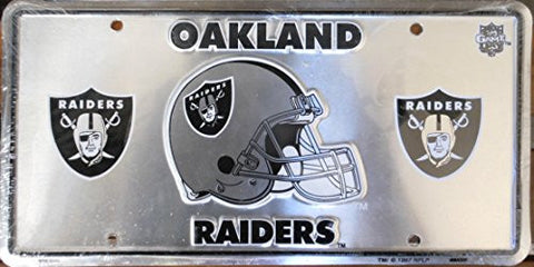 Oakland Raiders Football License Plate
