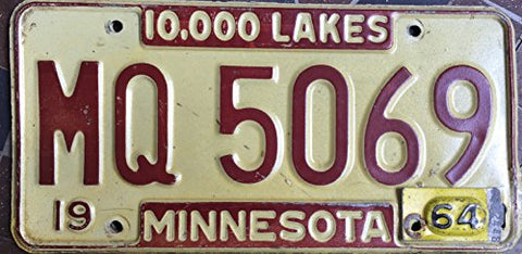 Minnesota State License Plate 64""