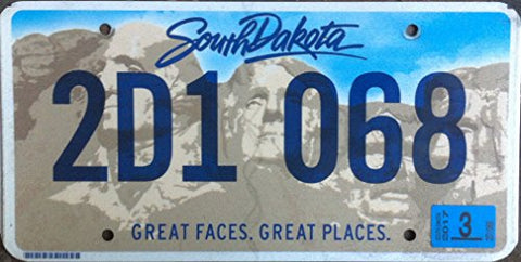 South Dakota State License Plate