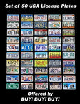 50 State's License Plate Run Collection