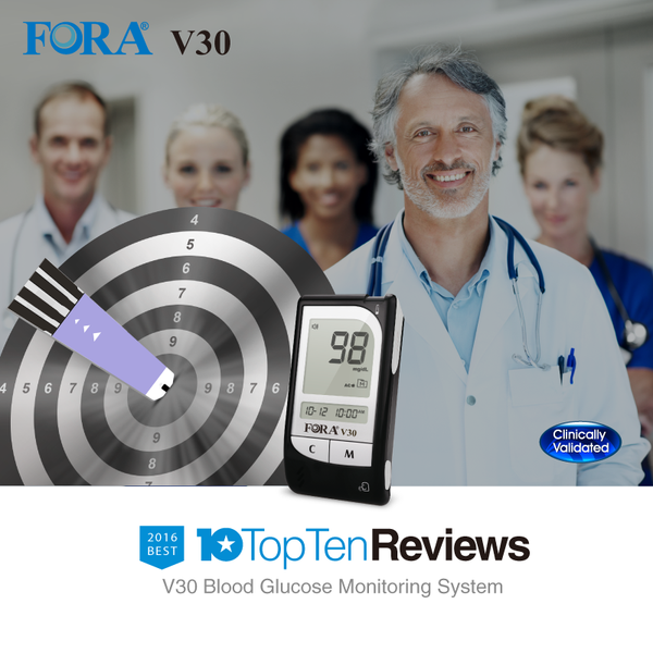 FORA V30 Blood glucose talking meter