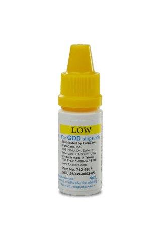 FORA GOD Glucose Low Control Solution, Expires 2021Mar31