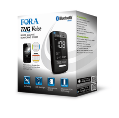 Fora Care Inc. Blood Glucose Meter FORA TN'G (Test N'GO) Voice Blood Glucose Meter  (Bluetooth & Free iOS/Android App)
