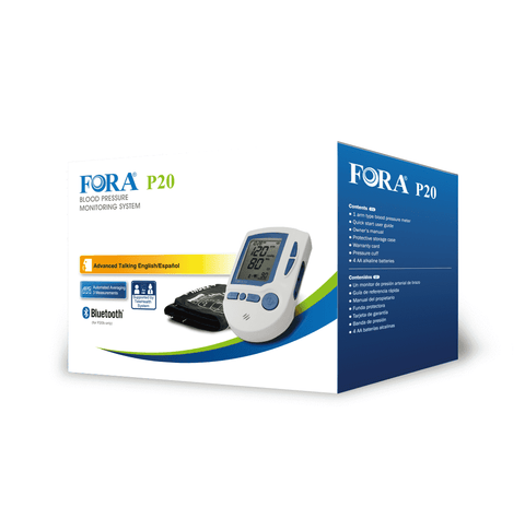 FORA P20b Arm Voice Blood Pressure Monitor, Bluetooth 4.0, Perfect for Health Monitoring