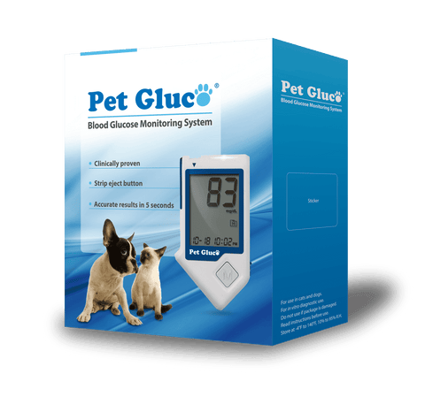 PET GLUCO Blood Glucose Meter for Dog and Cat (Strips and Lancing Sold Separately)