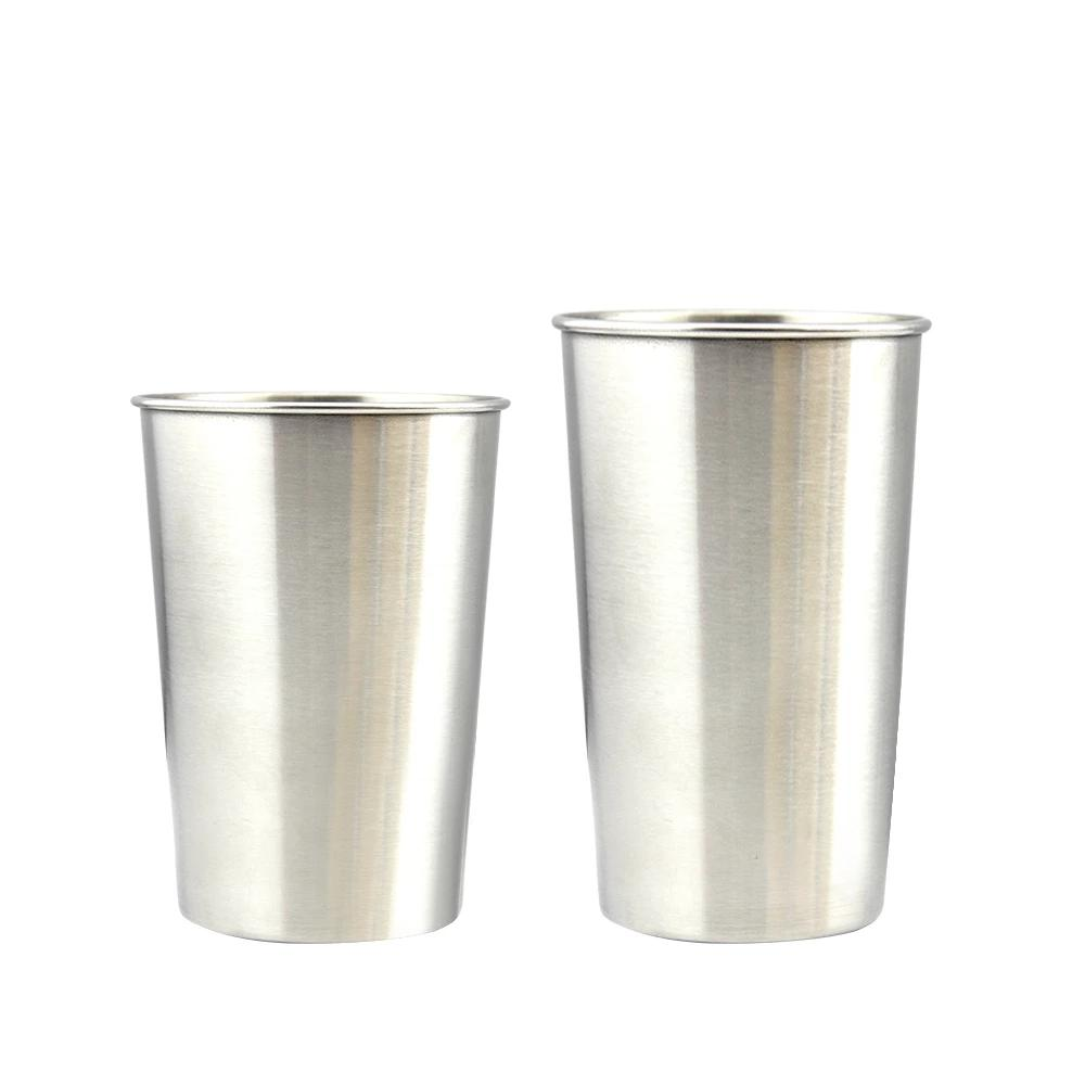 300/450ml Stainless Steel Cup  (Pack of 4)