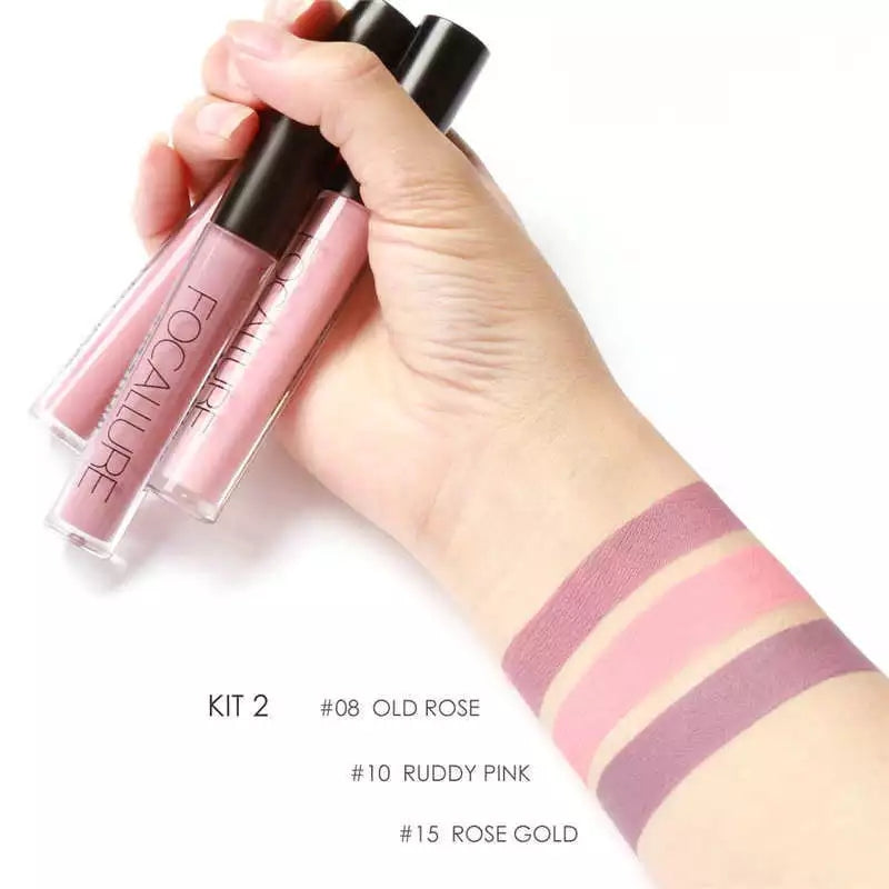3pc matte liquid lipstic