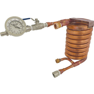Cowboy Craft LLC Wort Chiller - Counterflow Chiller Assembly (With In-Line Thermometer) ウォートチラー  | クラフトビール直送のCowboy Craft