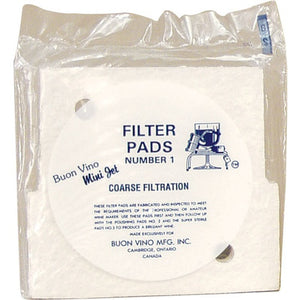 Cowboy Craft LLC Mini Jet Filter Pads - 8.0 micron (#1) - Pack of 3 | クラフトビール直送のCowboy Craft