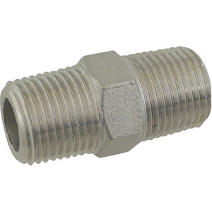 Cowboy Craft LLC Stainless Hex Nipple - 1/2 in. x 1 3/4 in. Threaded NPTネジ・バルブ  | クラフトビール直送のCowboy Craft