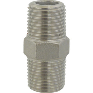 Cowboy Craft LLC Stainless Hex Nipple - 1/2 in. x 1 3/4 in. Threaded | クラフトビール直送のCowboy Craft