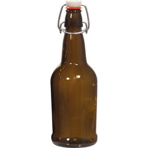 Cowboy Craft LLC Flip Top Bottles - EZ Cap 16 oz Amber (Qty 12) ガラス容器  | クラフトビール直送のCowboy Craft