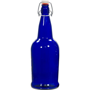 Cowboy Craft LLC E.Z. Cap Bottles - 32 oz Cobalt Blue Swing Top (Qty 12) ガラス容器  | クラフトビール直送のCowboy Craft