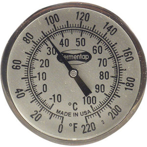 Cowboy Craft LLC High Quality Thermometer - 2 in. x 12 in. 温度計  | クラフトビール直送のCowboy Craft