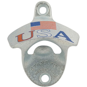 Cowboy Craft LLC Wall Mount Bottle Opener - USA with flag ケグレーター・持ち運び容器  | クラフトビール直送のCowboy Craft