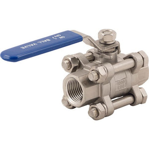 "Cowboy Craft LLC Stainless Ball Valve - 1/2"" - 3 Piece 