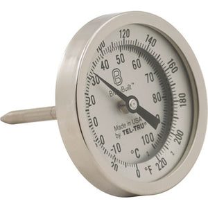 "Cowboy Craft LLC BrewBuilt™ 3"" Dial Thermometer - 2.5"" Probe 温度計  
