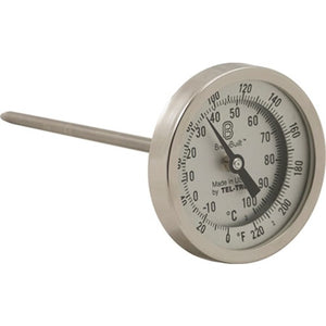 "Cowboy Craft LLC BrewBuilt™ 3"" Dial Thermometer - 6"" Probe 温度計  