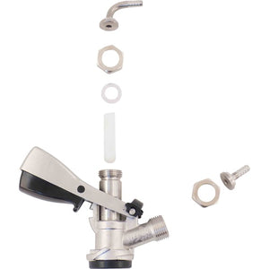 Cowboy Craft LLC Stainless Steel Sanke Beer Tap (D-Style) - Without PRV ディスペンサー、フォウセット関連  | クラフトビール直送のCowboy Craft