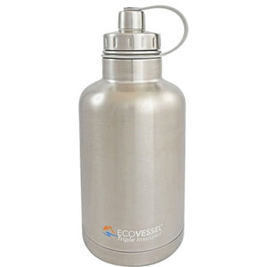 "Cowboy Craft LLC 64oz Growler - Triple Insulated EcoVessel ""Boss"" ケグレーター・持ち運び容器  