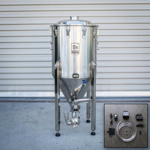 Cowboy Craft LLC Half bbl | Chronical Brewmaster Edition Fermenter with FTSs Chilling Package 円錐型・ステンレスタイプ  | クラフトビール直送のCowboy Craft