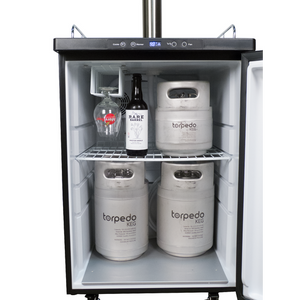 Cowboy Craft LLC Kegerator with Stainless Steel Flow Control Intertap Faucets - DROPSHIP ONLY | クラフトビール直送のCowboy Craft