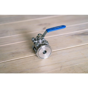 Cowboy Craft LLC Stainless Ball Valve - 1.5 in TC x 1/2 in. NPT | クラフトビール直送のCowboy Craft