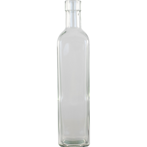 Cowboy Craft LLC 500 mL Clear Square Sided Glass Bottles- Case of 12 ガラス容器  | クラフトビール直送のCowboy Craft