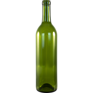 Cowboy Craft LLC 750 mL Champagne Green Bordeaux Wine Bottles - Case of 12 ガラス容器  | クラフトビール直送のCowboy Craft